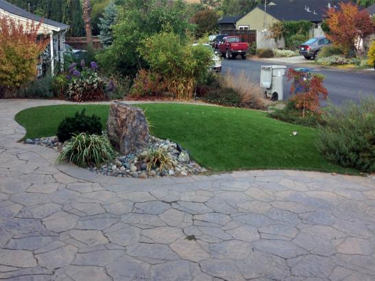 Artificial Grass Photos: Turf Grass Dunedin, Florida Landscape Rock, Front Yard